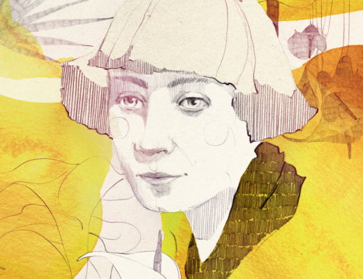 Illustration of Marina Cvetaeva by Ekaterina Koroleva for Berlinograd